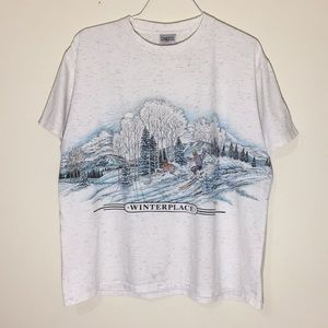 Vintage 1990s Winter Place All Over Print T-Shirt